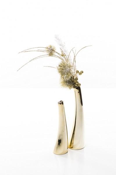 Solifleurvase Suri champagner/gold