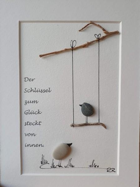 Steinbild Der Schlüssel....- Schaukel